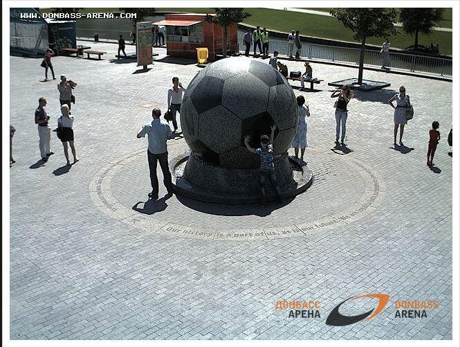 Снимки с видеокамер на Донбасс Арене