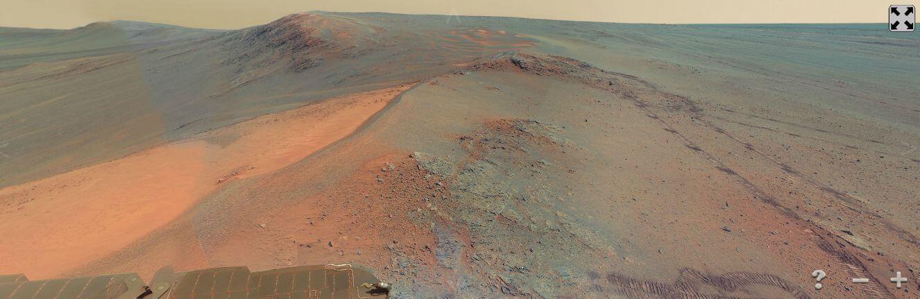 Снимок из панорамы Марса сделанной в августе 2012 года