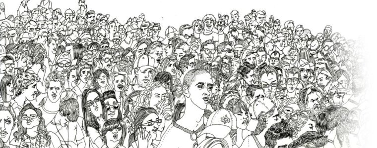 толпа-рисунок