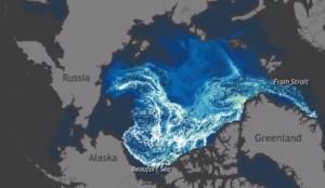 Анимация, которая показала движение Арктического льда за 27 лет в течение одной минуты