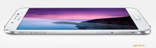 Galaxy A8, как и все смартфоны серии A, выполнен в цельнометаллическом корпусе