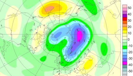 карта озоновой дыры