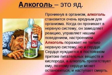 алколголь - яд