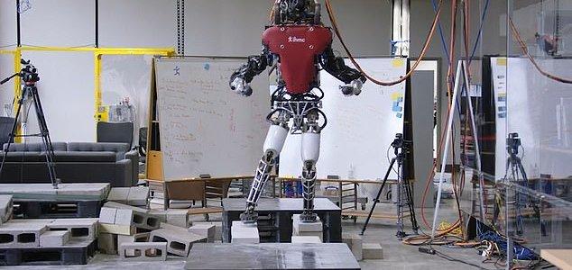Как человекоподобный робот  «ходит по канату» из крошечных глыб, подобно человеку