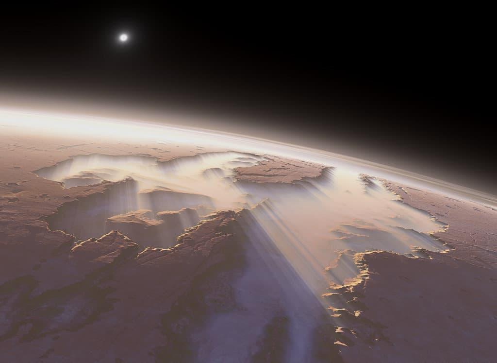 каньон в долине Маринера, Марс