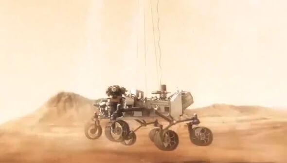 марсоход, высадка на Марс