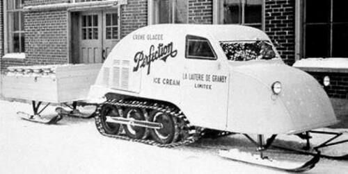 первый снегоход Бомбардье