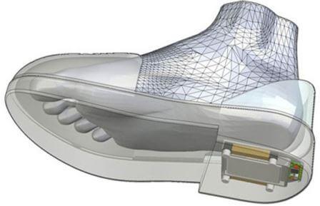 Как встраивается система GPS в ботинки (схема)