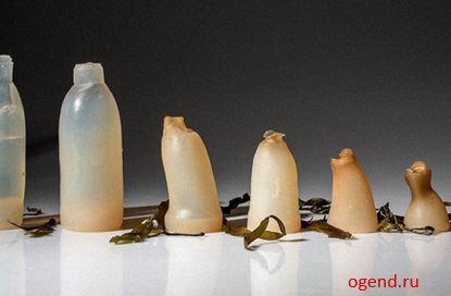 Бутылки для питьевых жидкостей на основе агар-агара