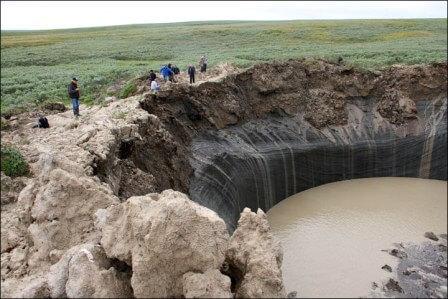 гигансткая воронка на Ямале