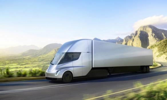 Tesla Semi на трассе
