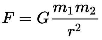 формула всемирного тяготения