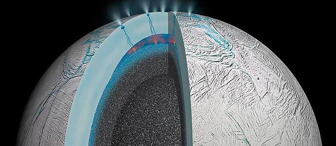 Недавно открытые органические молекулы в зернах льда Эсцелада — источники жизни на этой планете?