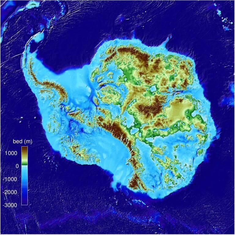 Миру представлена самая подробная подледная карта Антарктиды. BedMachine является самой точной картой толщины ледяного покрова Антарктиды, составленной до настоящего времени.