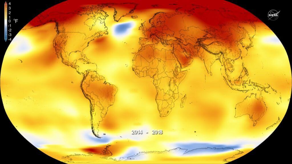 карта тепловая
