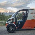 Arcimoto предоставляет в аренду электрический трехколесный Deliverator