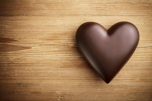 сердце шоколад